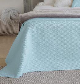 Daniadown Coverlet Set Daniadown Diamond Misty Blue Queen w / shams