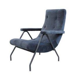 LH Imports LH Retro Lounge Chair Dark Grey Velvet CR014-DGV
