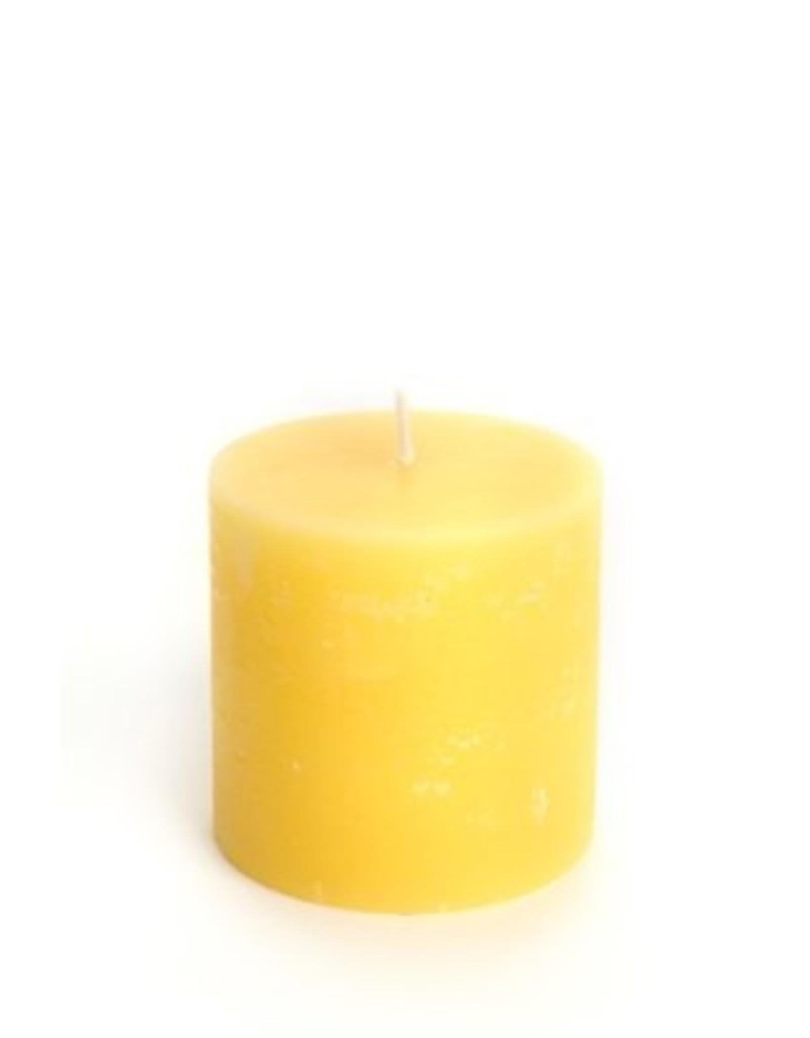 Candle Pillar OCD Rustic Yellow 3D x 3 710051