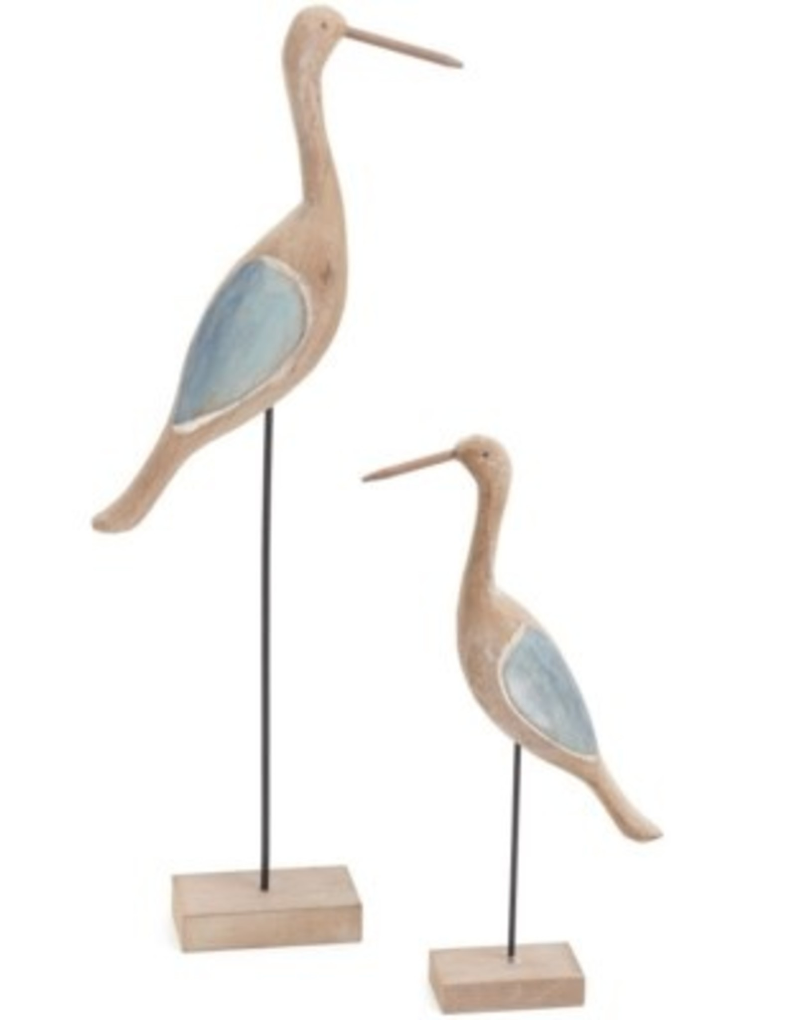 Decor PC Wood Shore Bird 18 H