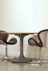 LH Imports LH Mercury Dining Chair Brown Leather SOC99-08SS