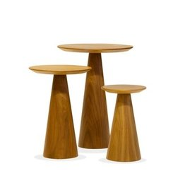 Mobital Mobital Tower End Table Walnut Tall
