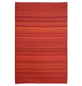 Rugs Viana Fiesta Outdoor Plastic Red Striped 6 x 9