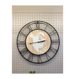 Clocks CJ World Map Roman
