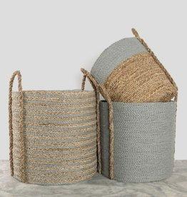 Pokoloko Basket Pokoloko Handled Laundry Natural/Grey Large
