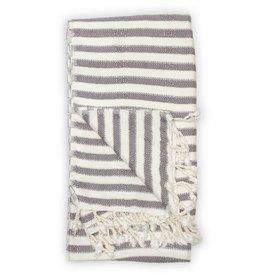 Pokoloko Turkish Towel Pokoloko Zebra Bamboo Slate TTBZ2