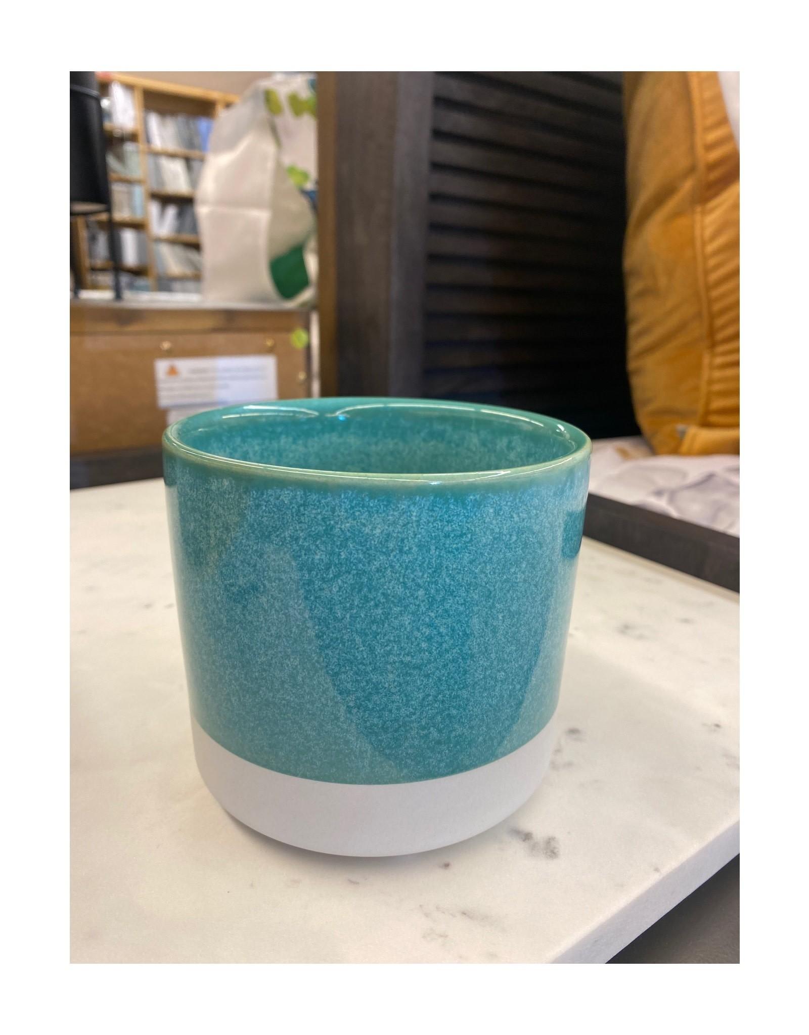 Planter PC 2-Tone Turquoise / White 4D