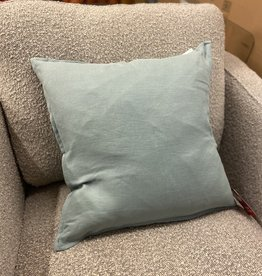 Daniadown Cushions Daniadown French Linen Stone Blue Toss 18 x 18