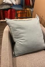 Daniadown Cushions Daniadown French Linen Stone Blue Euro 26 x 26