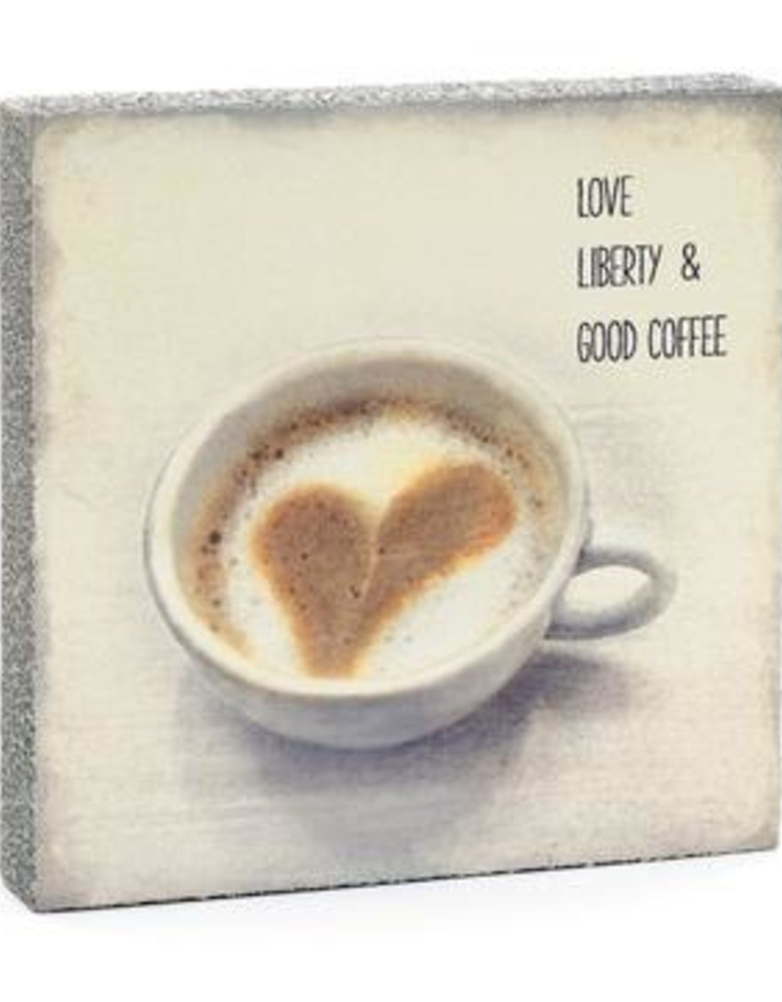 Cedar Mountain Cedar Mountain Art Block Love Liberty Coffee LF5242