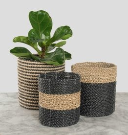 Pokoloko Basket Pokoloko Plant Black/Natural SM