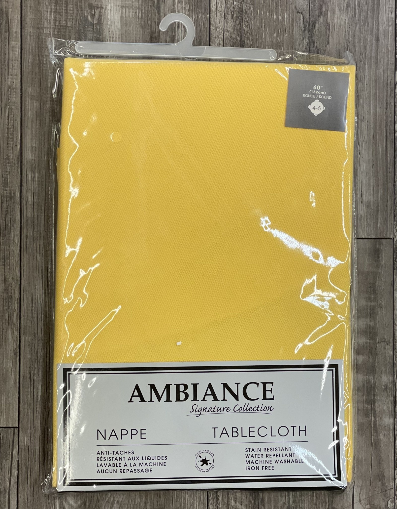 """Table Cloth Tex Styles Soft Touch Yellow 60"""" x 108"""""""