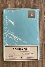 "Table Cloth Tex Styles Soft Touch Blue Aqua 60"" x 108"""