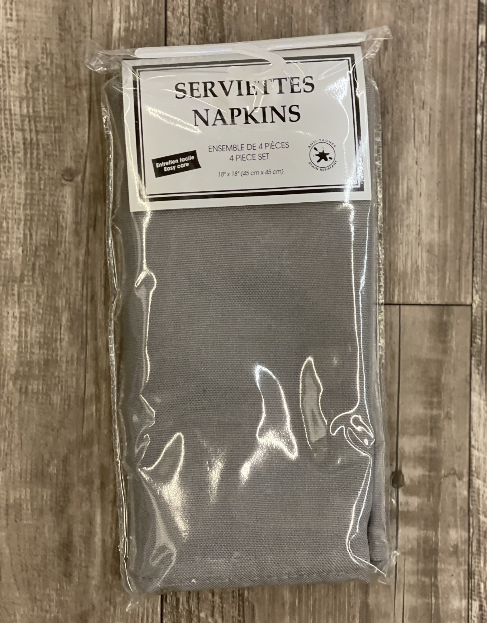 Napkins Tex Styles Soft Touch Charcoal Set/4