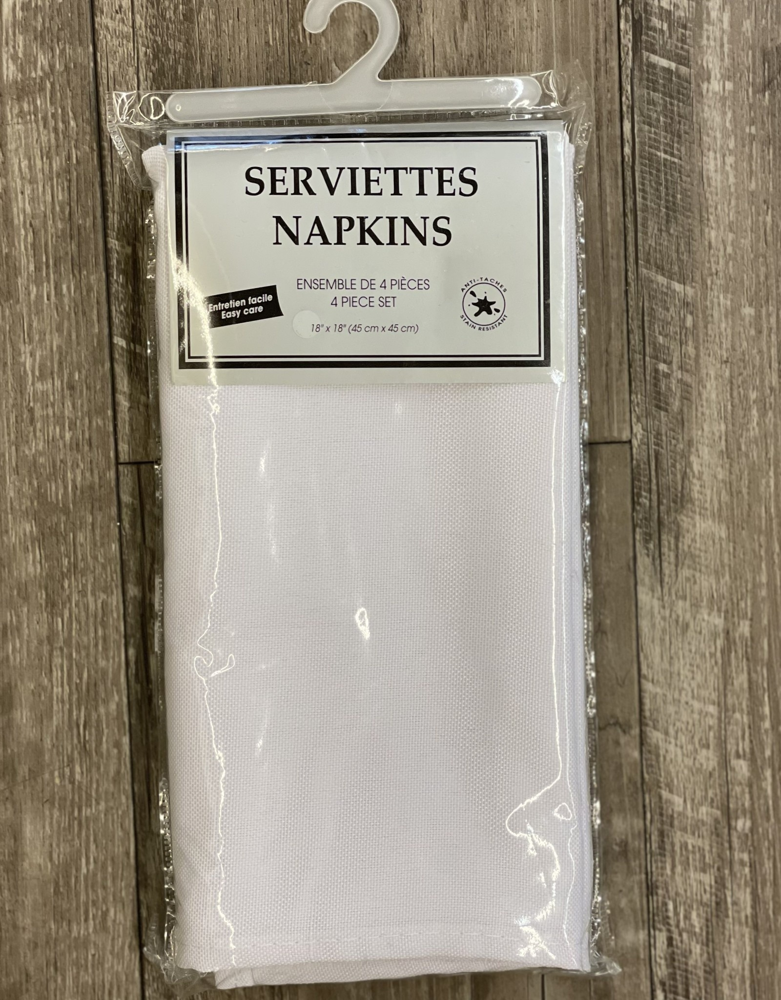 Napkins Tex Styles Soft Touch White Set/4