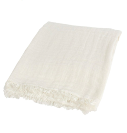Throw Canfloyd Linen Ivory R100352