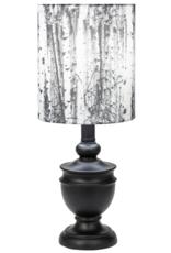 Lamp Ganz Black W/Birch Shade 40W CB174360
