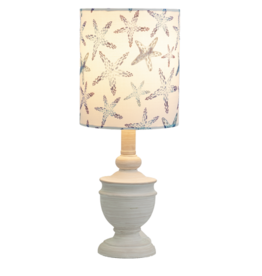 Lamp Ganz Whitewash W/Starfish Shade 40W CB175300