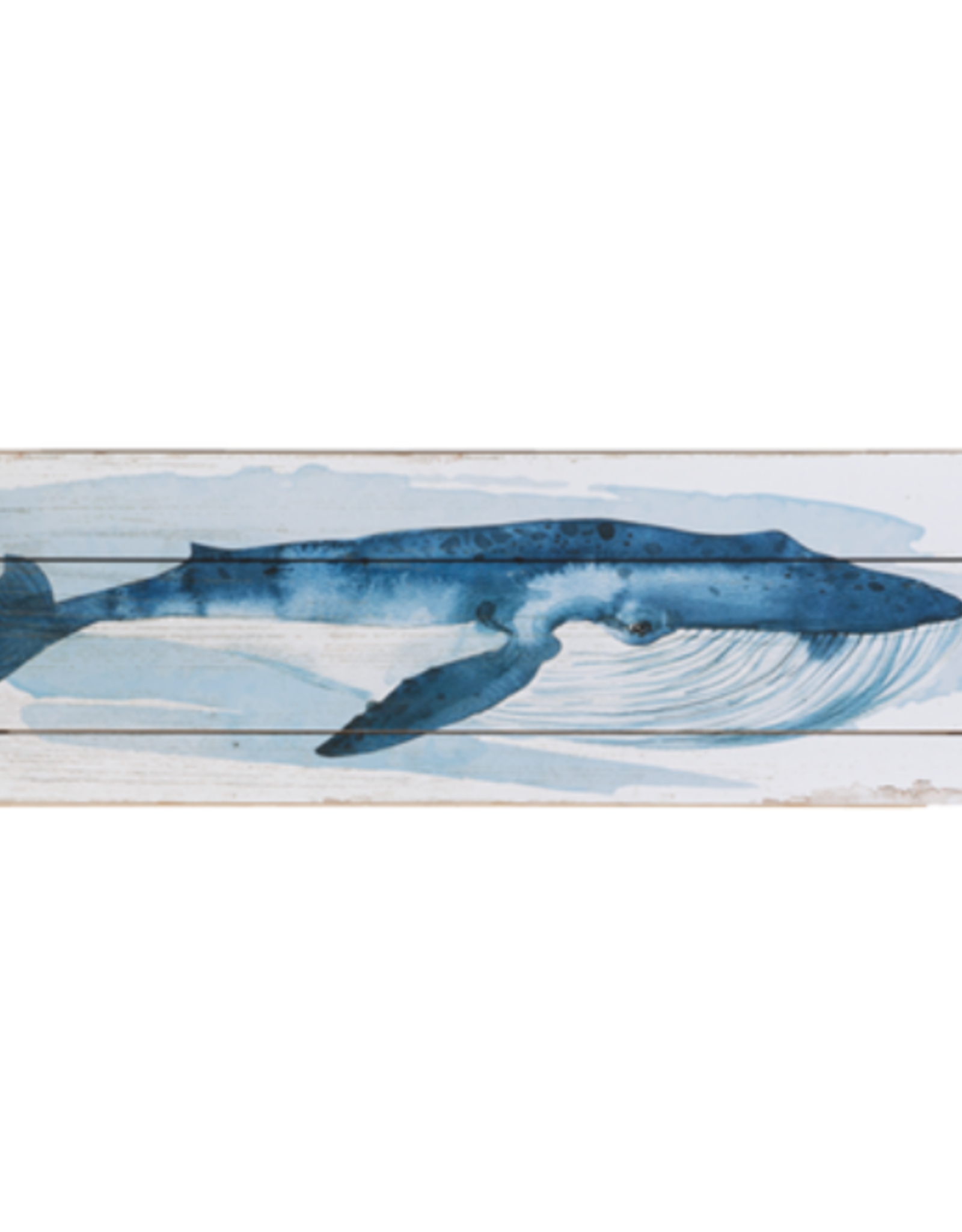 Wall Decor Ganz Horizontal Whale Blue CB175346