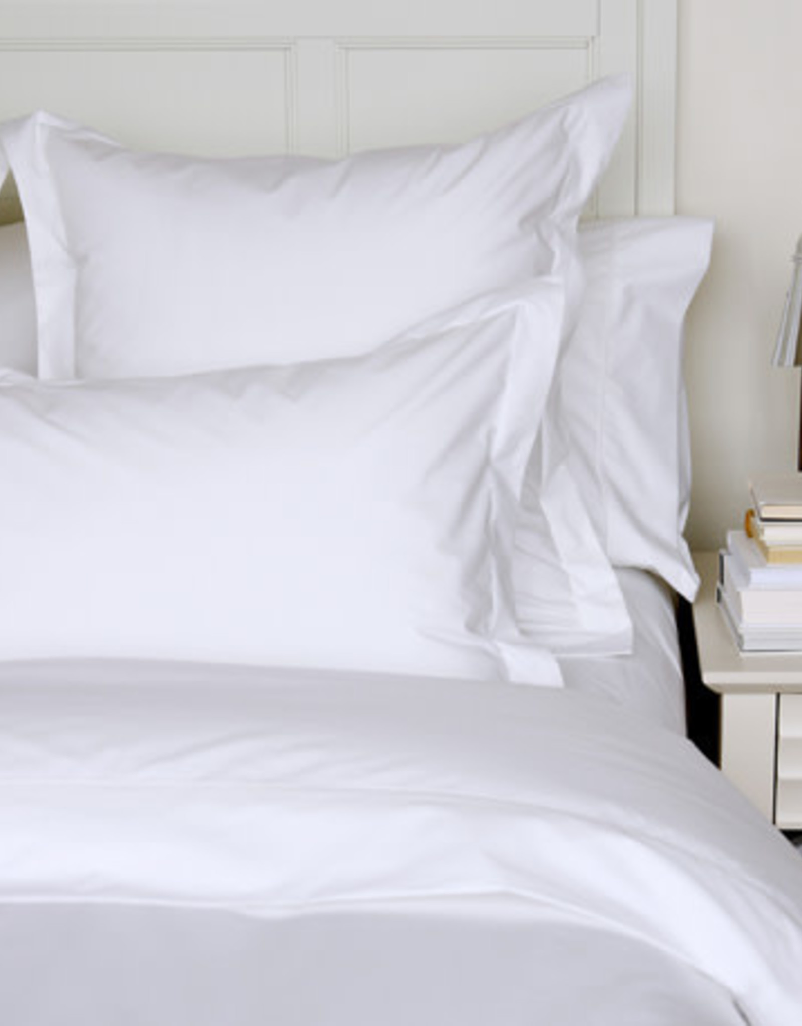Cuddle Down Sheets Cuddledown Percale Deluxe Queen Fitted White ( 10 )