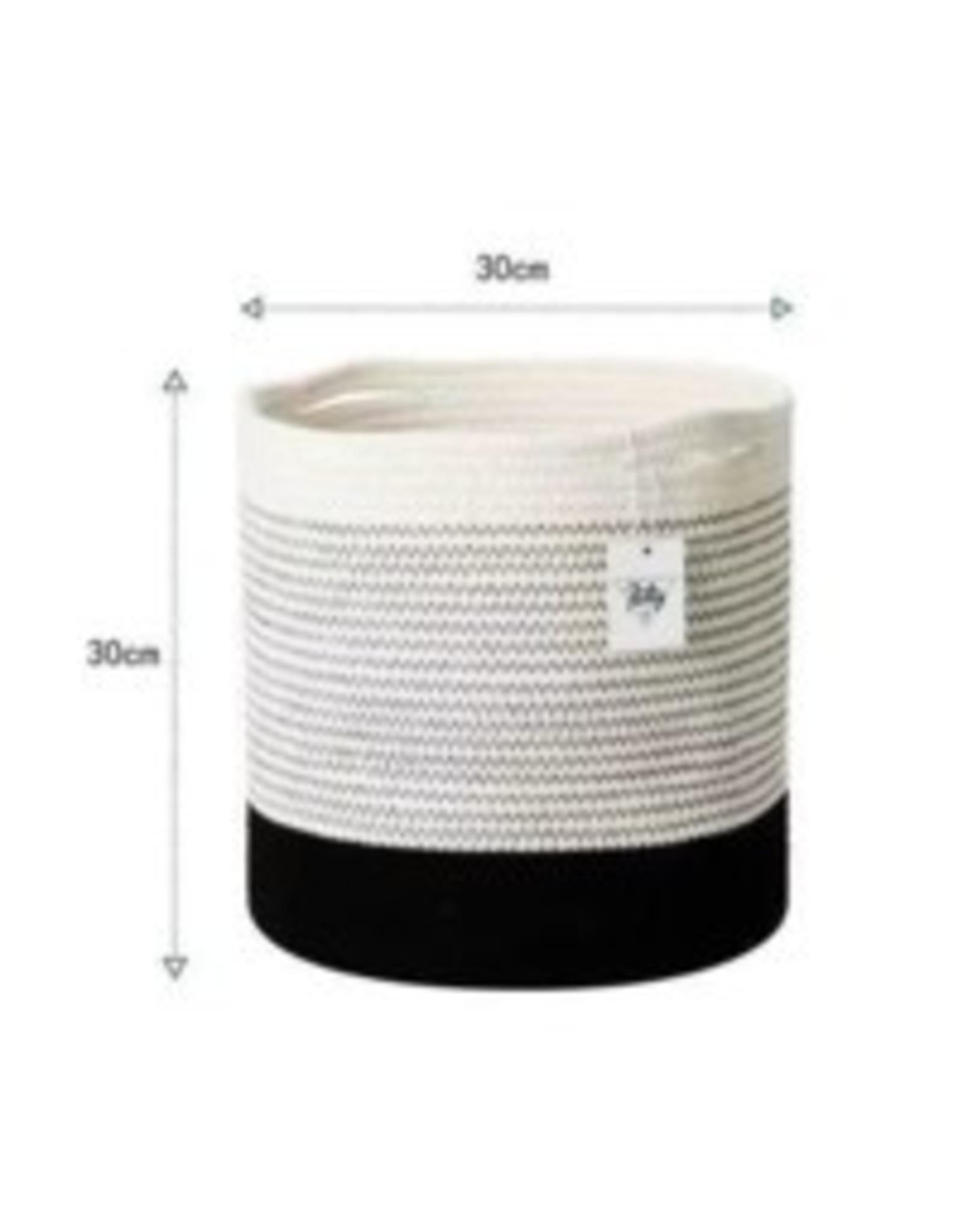 Basket CJ Cotton Rope White Black PHOMGR771200