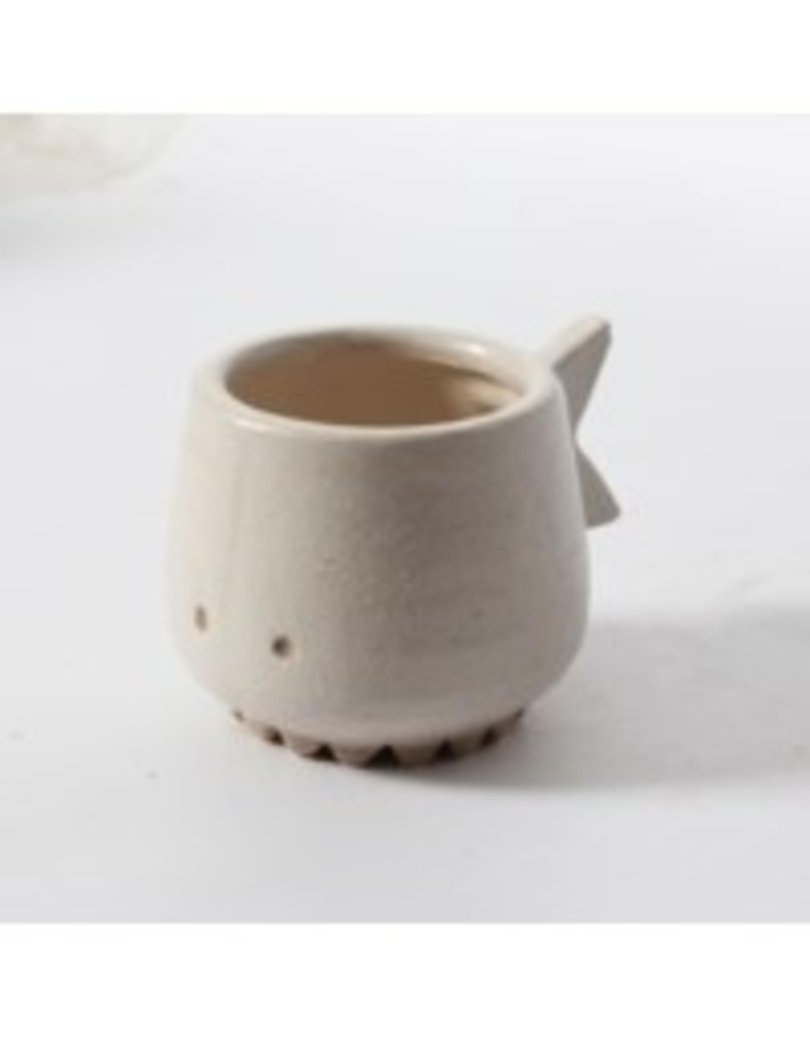 Planter CJ White Fish Ceramic Flower Pot 2091DM2654WH