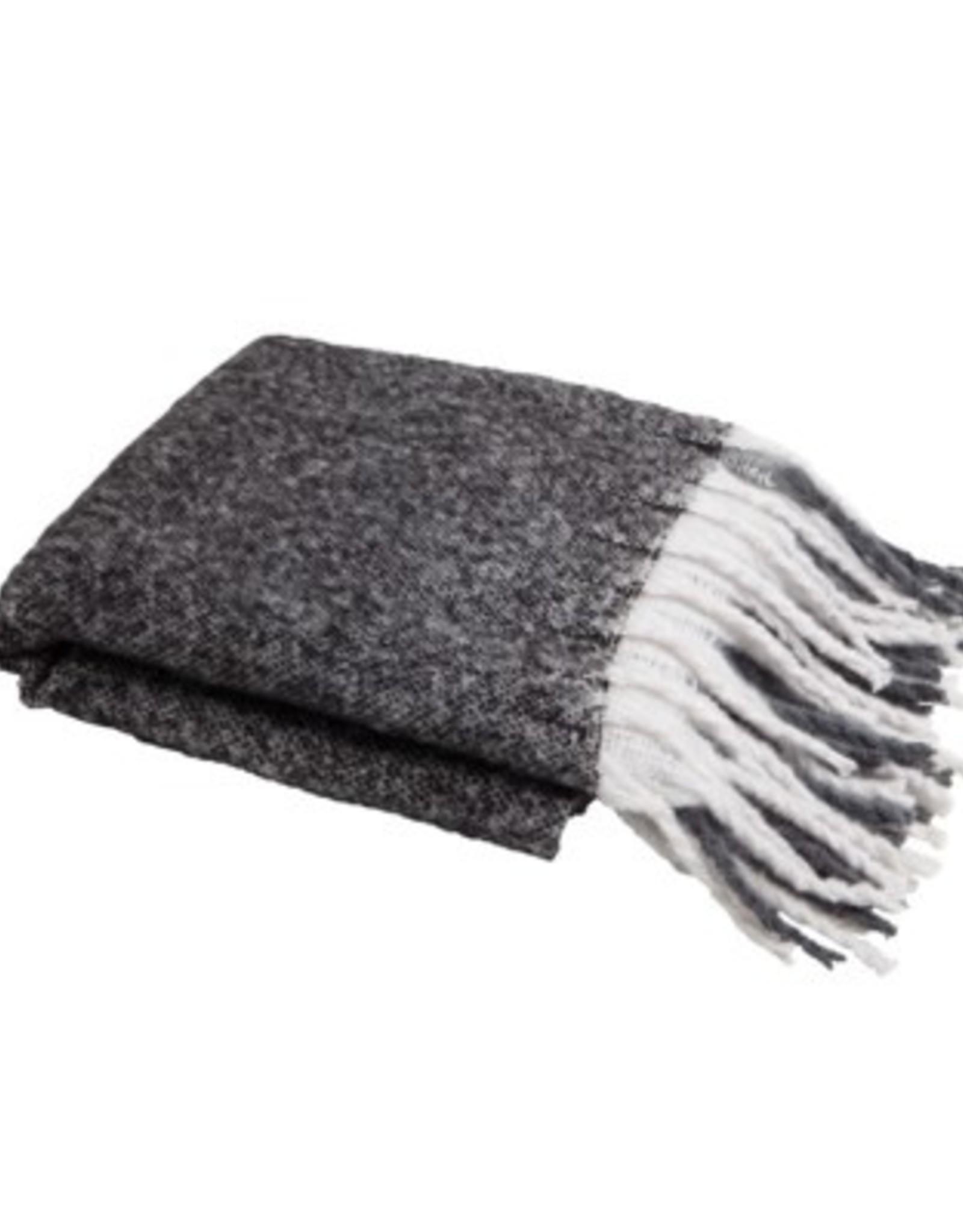 Throw Harman Window Pane Knit Black/Navy