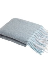 Throw Harman Window Pane Knit Aqua