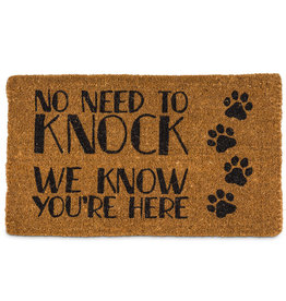 """Doormat Abbott """"No Need To Knock"""""""
