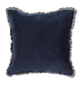 Cushions Abbott Velvet With Fringe Navy 779
