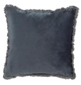 Cushions Abbott Velvet With Fringe Dk Grey 777