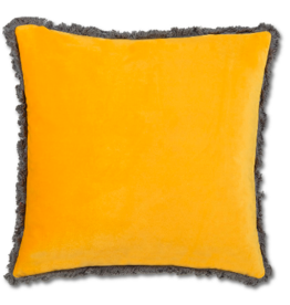 Cushions Abbott Velvet With Fringe Ochre 771