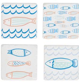 Coasters Ganz School Of Fish  S/4 CB175753