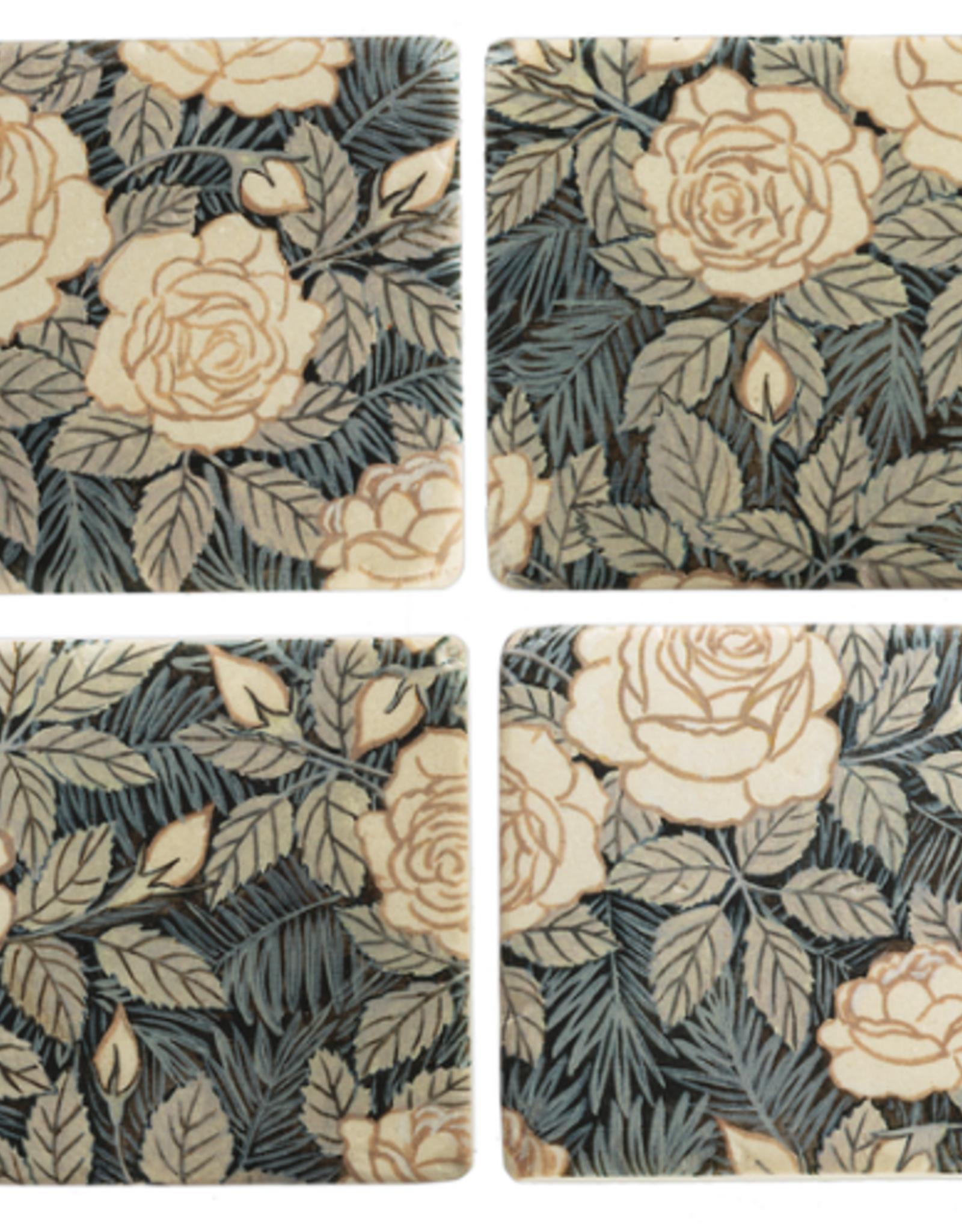 Coasters Ganz Floral  S/4 CB173846