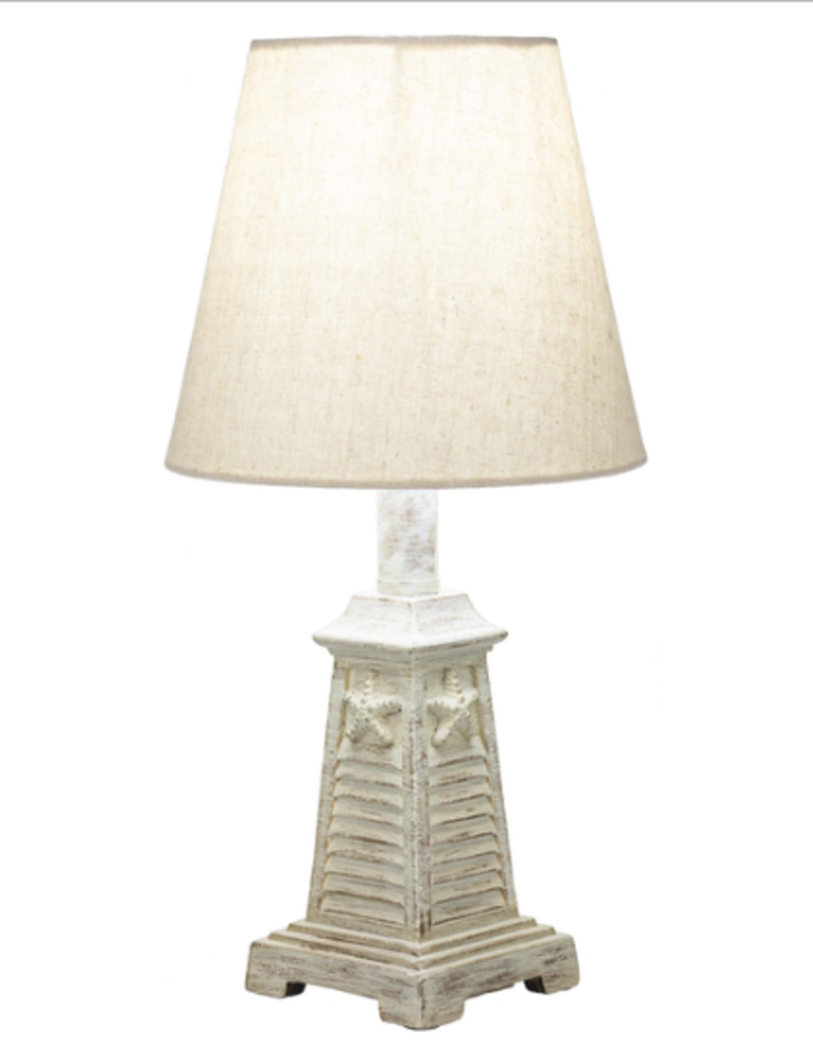 Lamp Ganz Whitewash Starfish Shutter 40W CB174376
