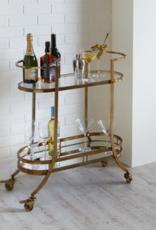 Bar Cart Ganz Two Tier W/Mirror 134346