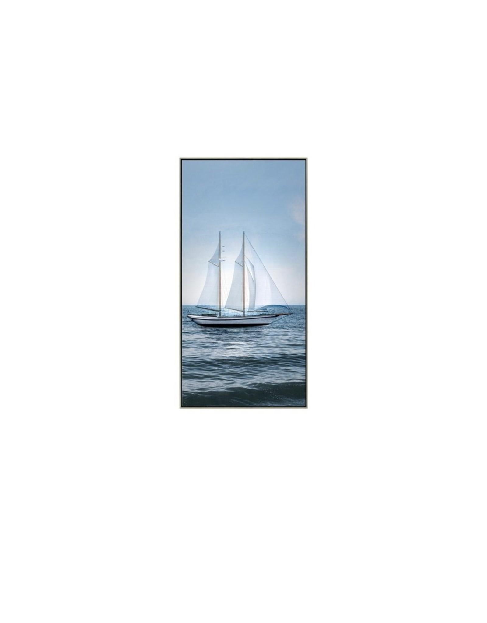 Art Oil CJ Sailboat At Sea Framed 3838JM320700