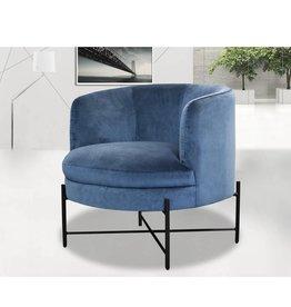 LH Imports LH Cami Club Chair Velvet Teal DAV012-VT