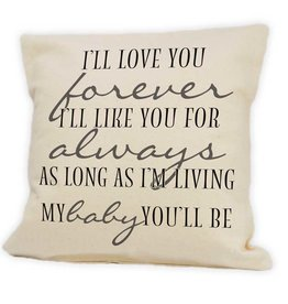 Cushions Pinetree Love You Forever 12 x 12