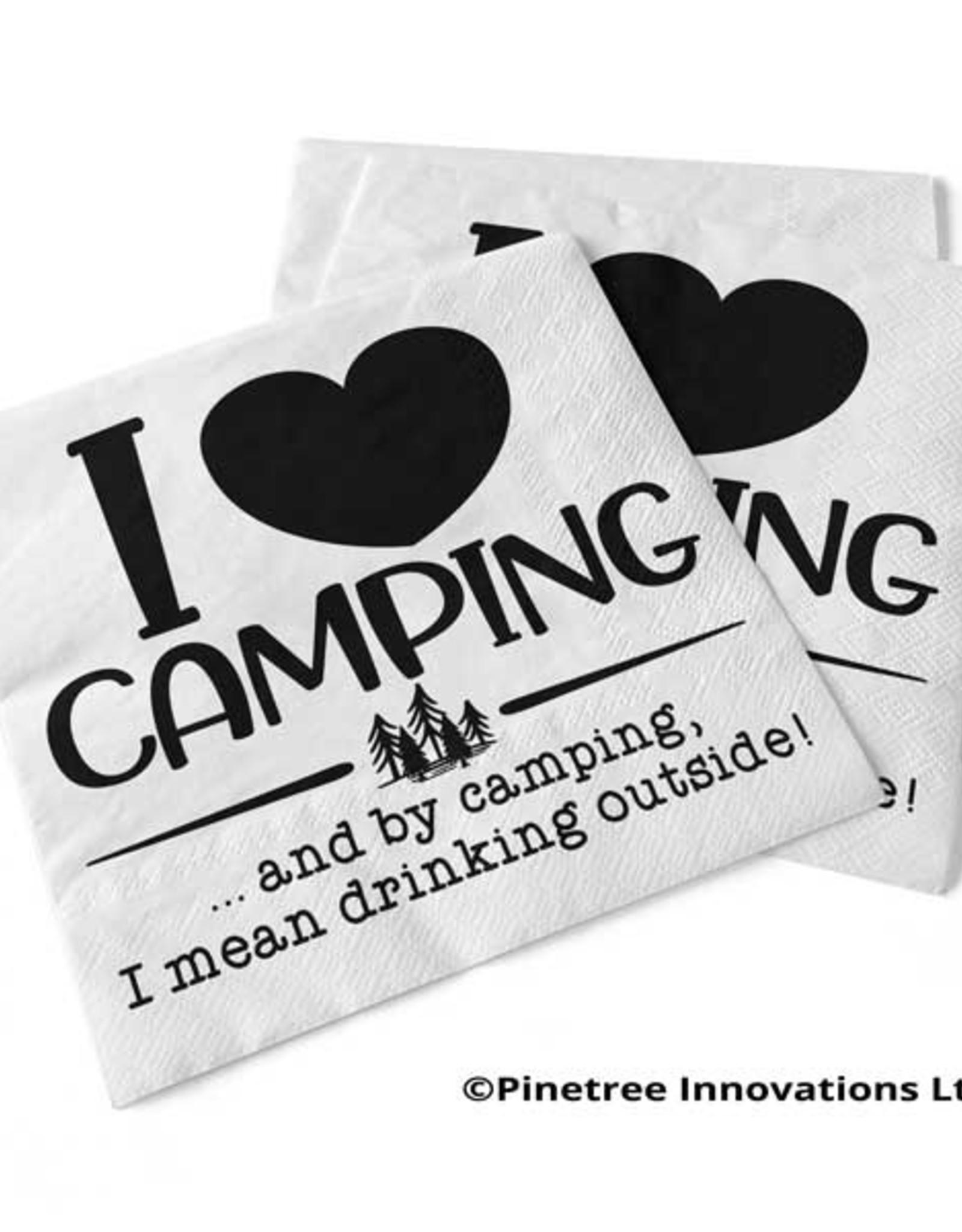 Napkins Pinetree I Love Camping