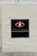 Cuddle Down Sheets Cuddledown Percale Deluxe Queen Fitted Ivory ( 13 )