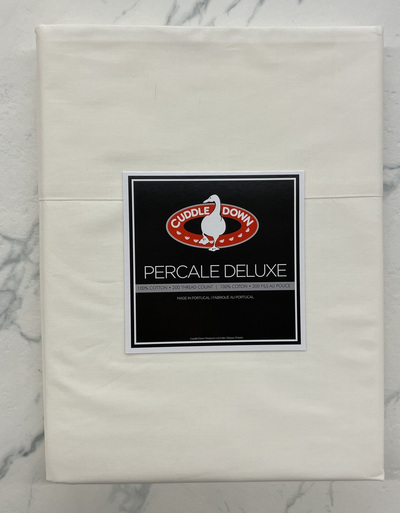 Cuddle Down Sheets Cuddledown Percale Deluxe Queen Jumbo Fitted Ivory ( 13 )