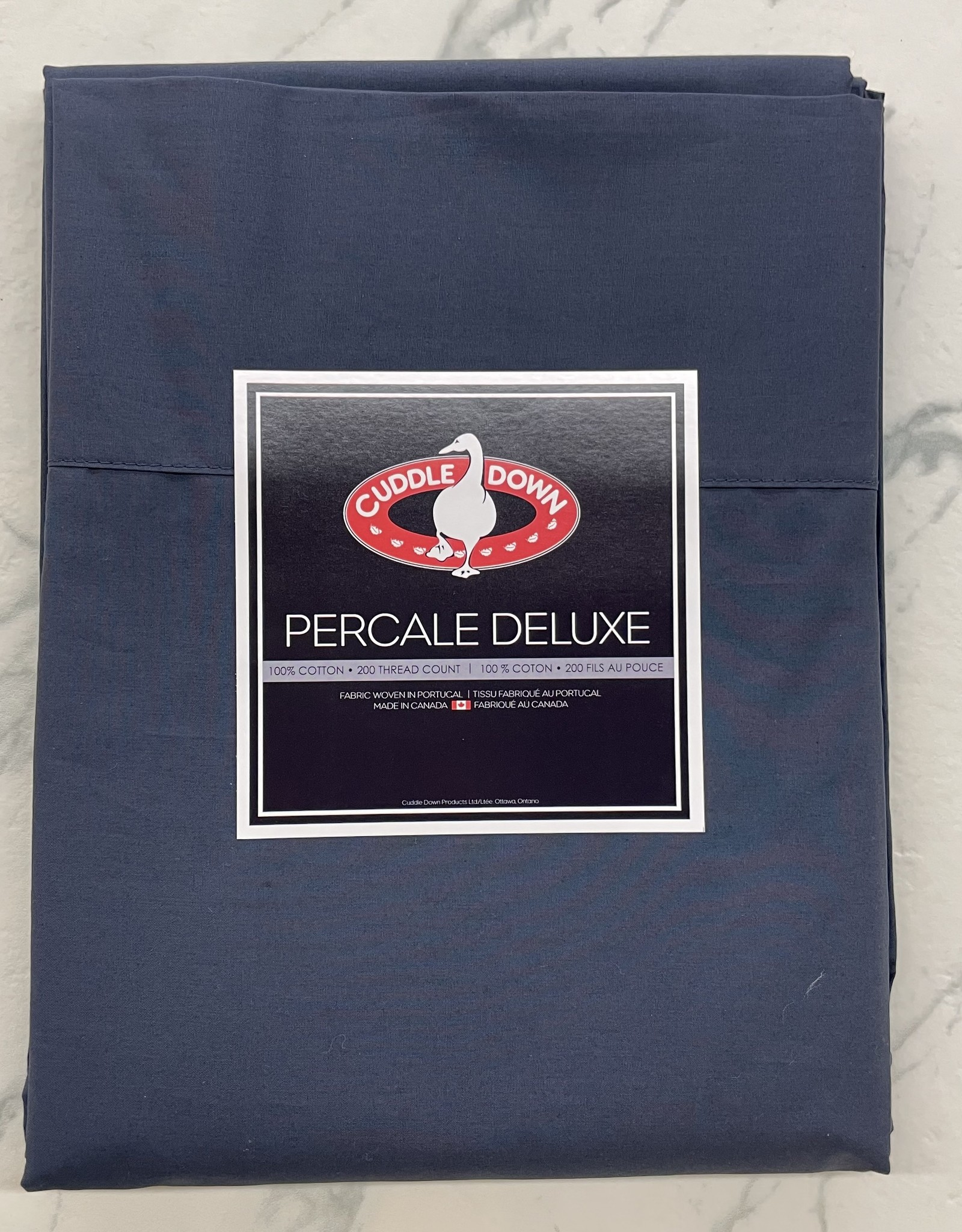 Cuddle Down Sheets Cuddledown Percale Deluxe King Jumbo Fitted Marine ( 49 )