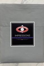 Cuddle Down Sheets Cuddledown Impressions 500 Queen Flat Steel Grey ( 90 )