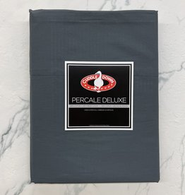Cuddle Down Sheets Cuddledown Percale Deluxe Queen Flat Slate ( 92 )