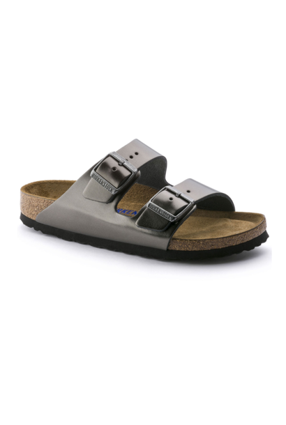 Arizona Soft Footbed in Metallic Anthracite