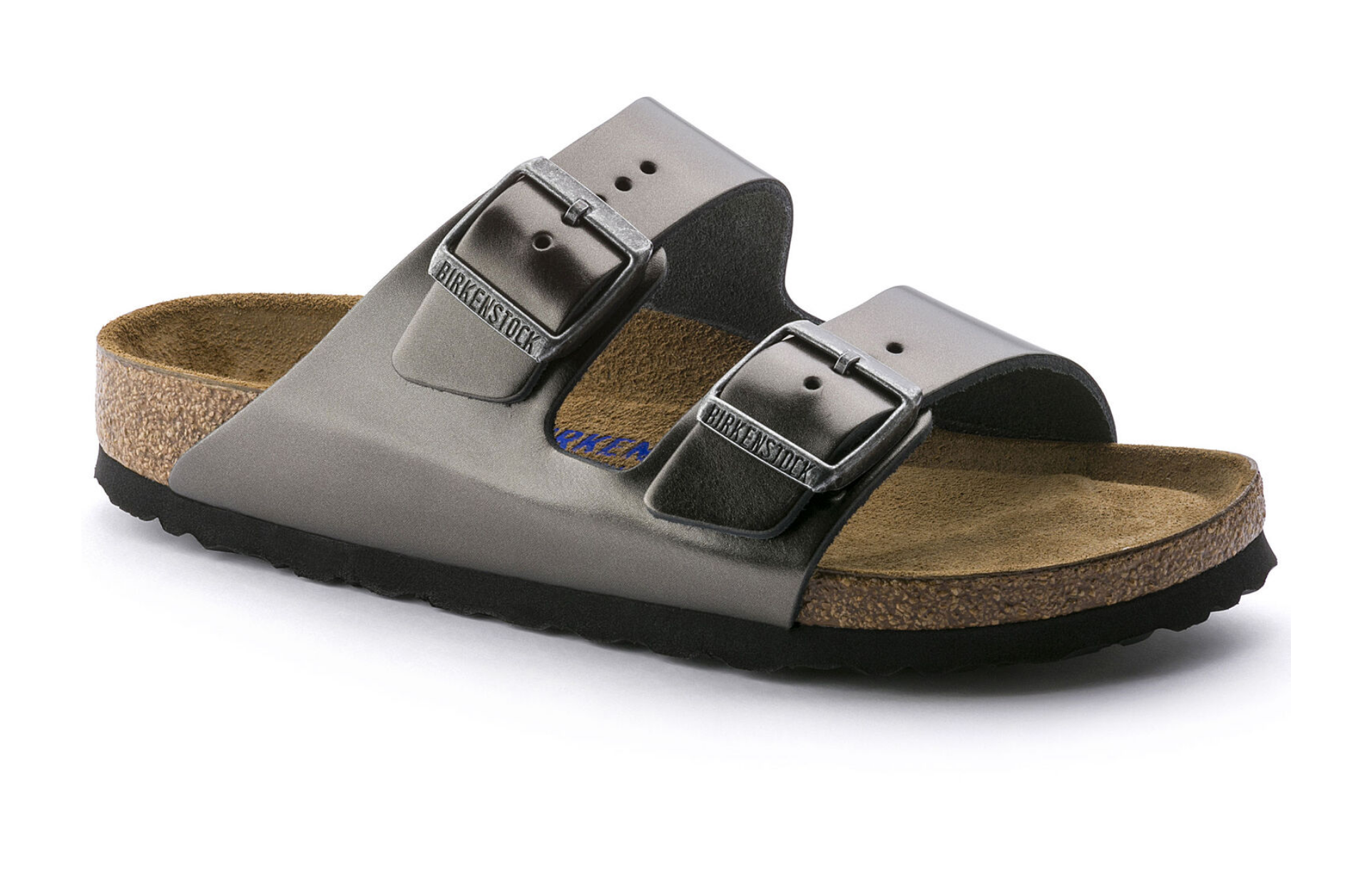 Arizona Soft Footbed in Metallic Anthracite-1