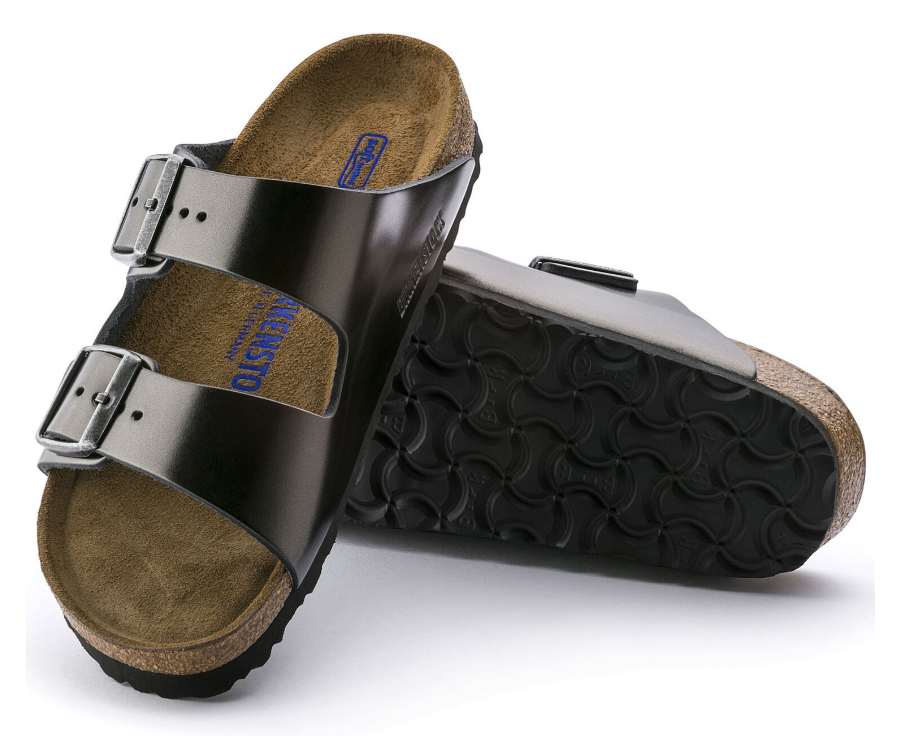 Arizona Soft Footbed in Metallic Anthracite-3