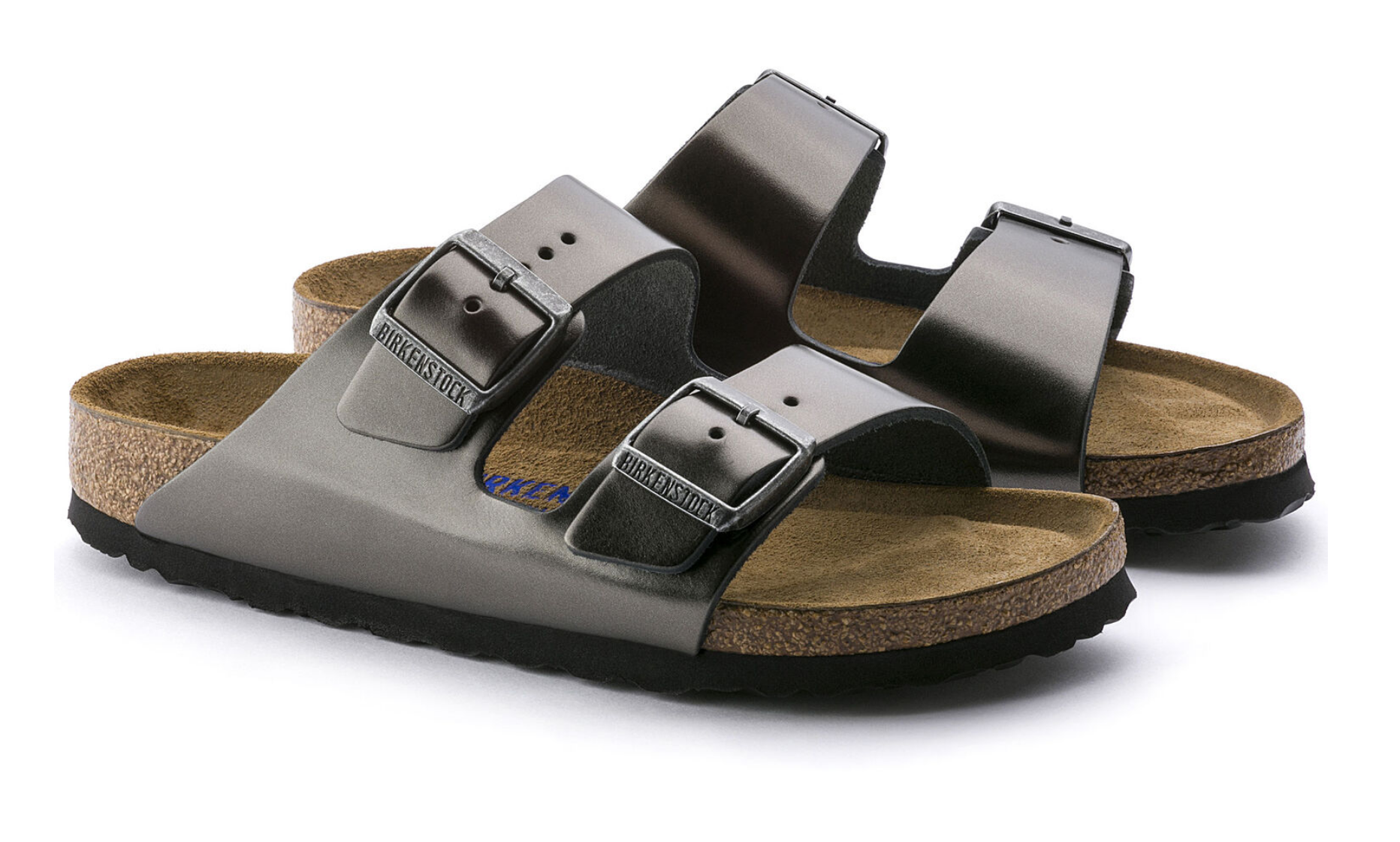 Arizona Soft Footbed in Metallic Anthracite-4
