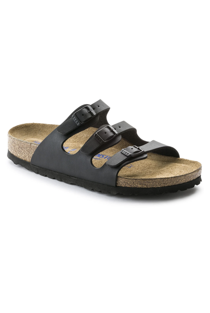 Florida Narrow Soft Footbed in Black